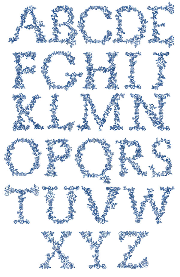 ABC: Embroidery Fonts Embroidery Alphabets, Redwork Alphabet