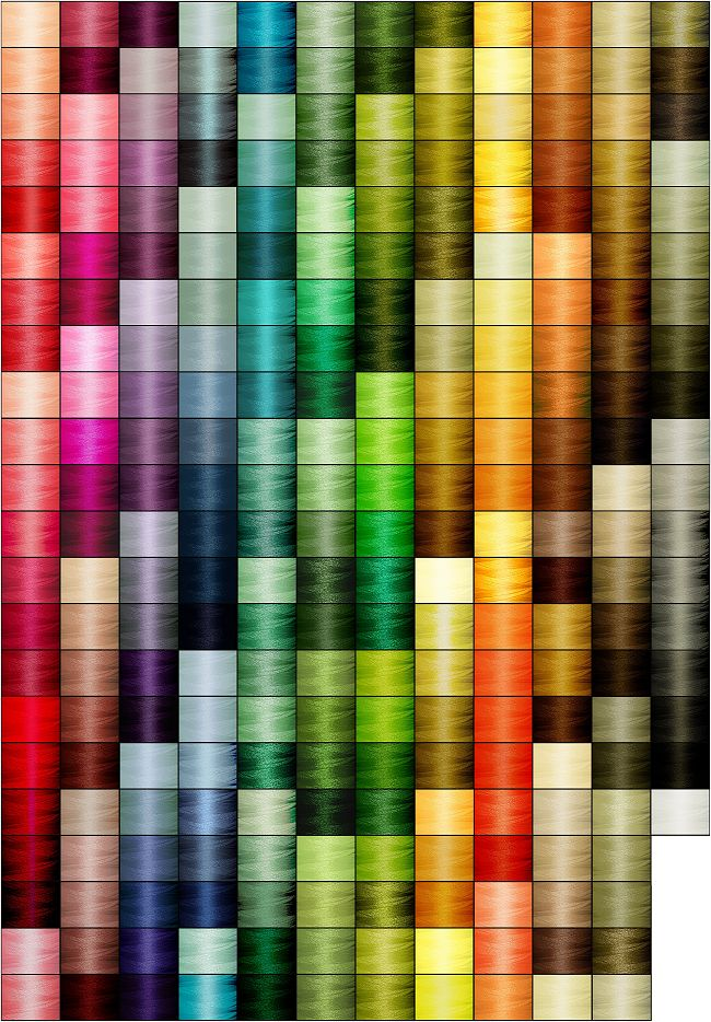 machine embroidery thread color chart