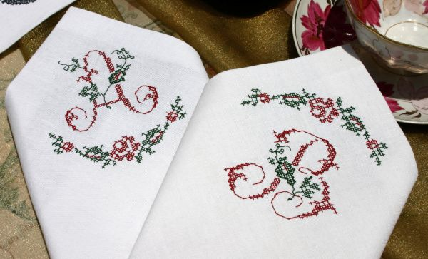 Abc embroidery projects joy napkins