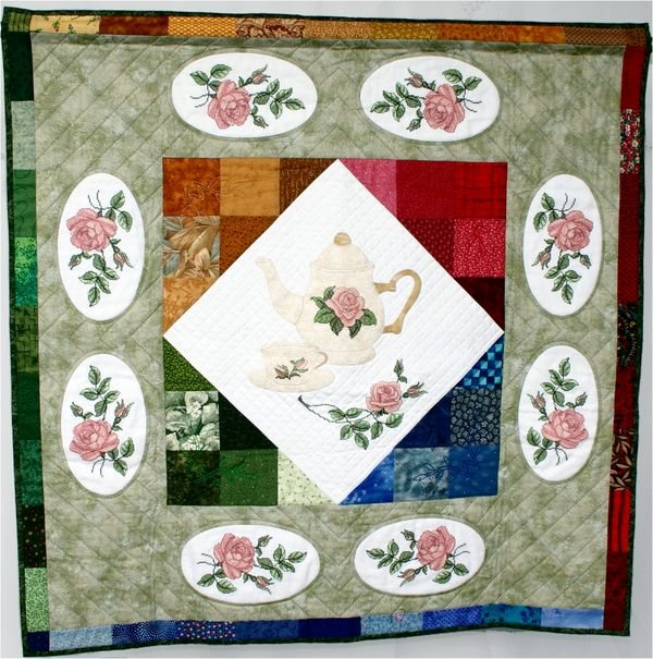Abc embroidery projects teatime among roses quilt