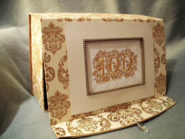 Memory Box to place birthday cards for a 100th birthday
